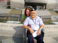 Mary Pettinato and Gene Coschigano, her Dad, at WWII Memorial